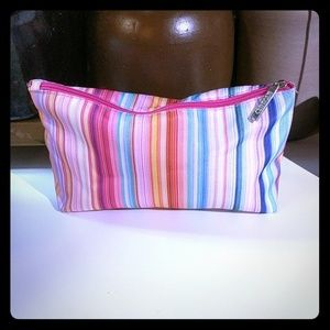 Clinique Pastel Striped Cosmetic Bag